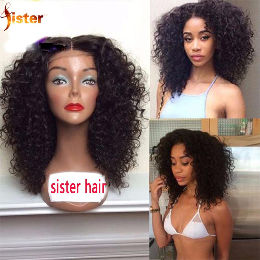 Фотография Brazilian Human Hair Curly Wigs Virgin Human Hair Kinky Curly Lace Front Wig Gluleless Full Lace Short Curly Human Hair Wigs