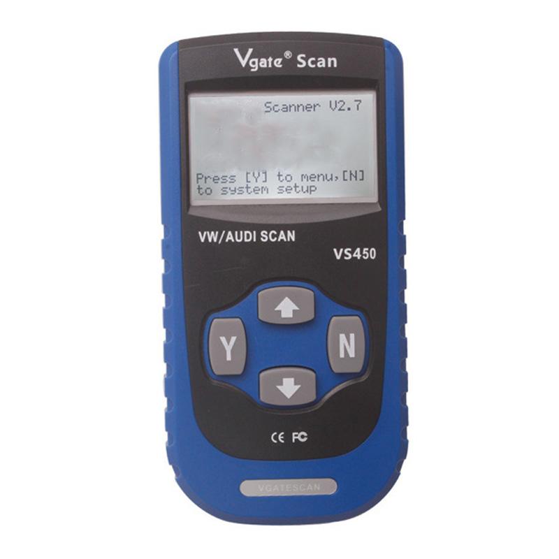 2015 Top quality VS450 VAG OBD 2 OBDII Code Reader Diagnostic Tool Reset Airbag ABS vgate scan vs450 car scanner<br><br>Aliexpress