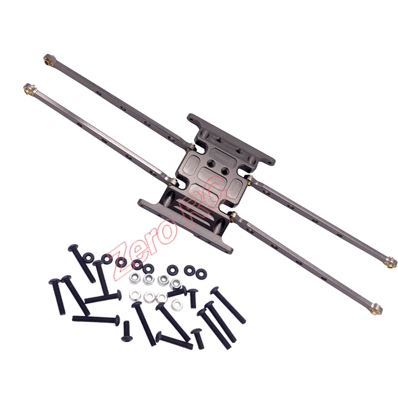 1/10 Rc Axial SCX10 Car Aluminum CENTER SKID PLATE Gearbox Base And Aluminum Suspension Link Arm Free Shipping(China (Mainland))