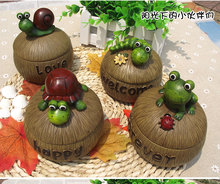 Creative cartoon frog turtle snail  family ashtray lid birthday gift special offer free shipping(China (Mainland))