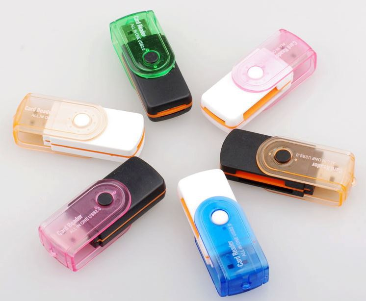 Wholesale USB 2 0 All in one memory card reader TF MS M2 SD card reader