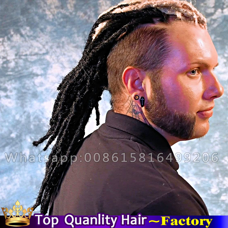 Synthetic kanekalon Faux locs crochet hair extension dreads dreadlocks extensions Men kinky Dread Hairstyles black dreadlocks(China (Mainland))