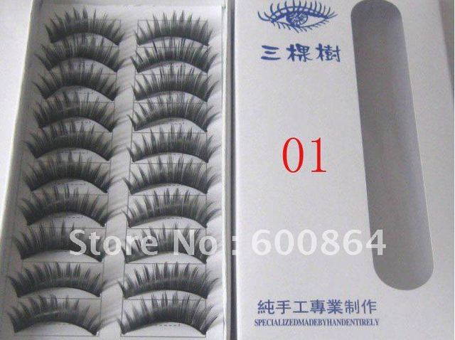 50pairs 01# Fashion Eyelashes False Eyelashes Fake Eyelashes artificial eyelash Hand made Eye lash