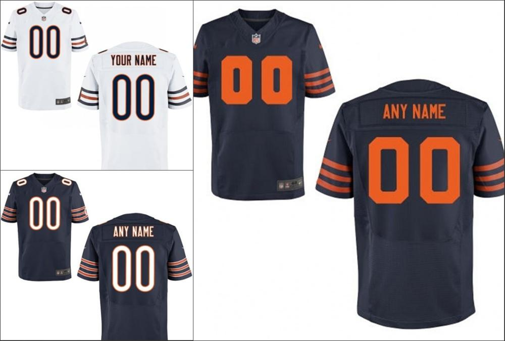 100% stitched Chicago Bears Personalized Embroidery Logos Customized Any Name And Number Men Women youth size S to 3XL(China (Mainland))