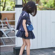 2015 Kindergarten Little Girls Mini Shoulder Bag cat bags kids burlap travel bags baby student fashion