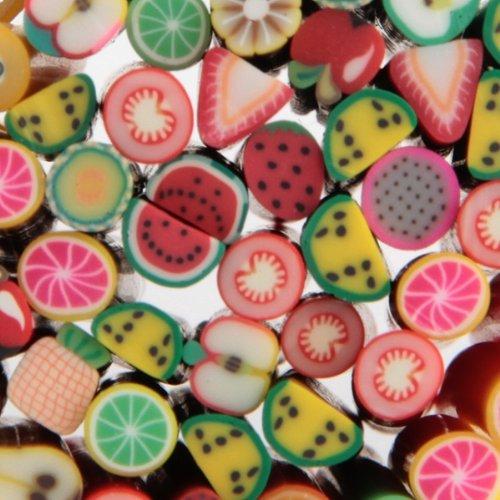 10x 50PCS Fruit Nail Art Fimo Canes Rods Sticks Stickers 3D Decoration(China (Mainland))