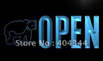 LK860- OPEN Bear Display Bar Beer LED Neon Light Sign