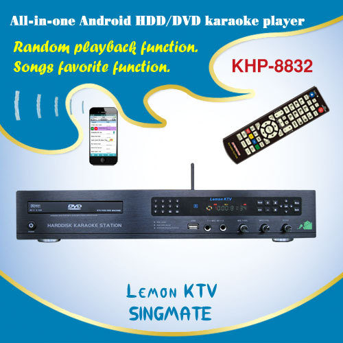 8832(#2) 2016 Wholesale All-in-one Hard Disk Karaoke Player Supports HDMI & Air KTV ,build-in AGC/AVC(China (Mainland))