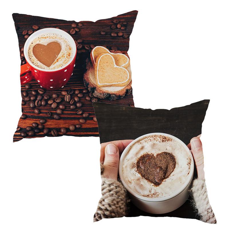 Free shipping 2016 Hot Pillows Decorative Home Cushion Throw Pillow Case Cushion Cover Coffee Heart