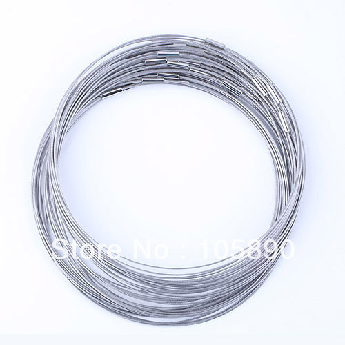 Wholesale 20pcs   Magnetic Stainless Wire Cable 1MM Steel Chain Charm Cord Necklace New!  XXY206-20