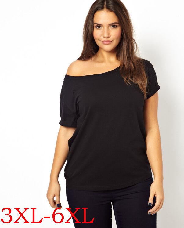 5xl large big size lady t shirt women 4xl 6xl plus size