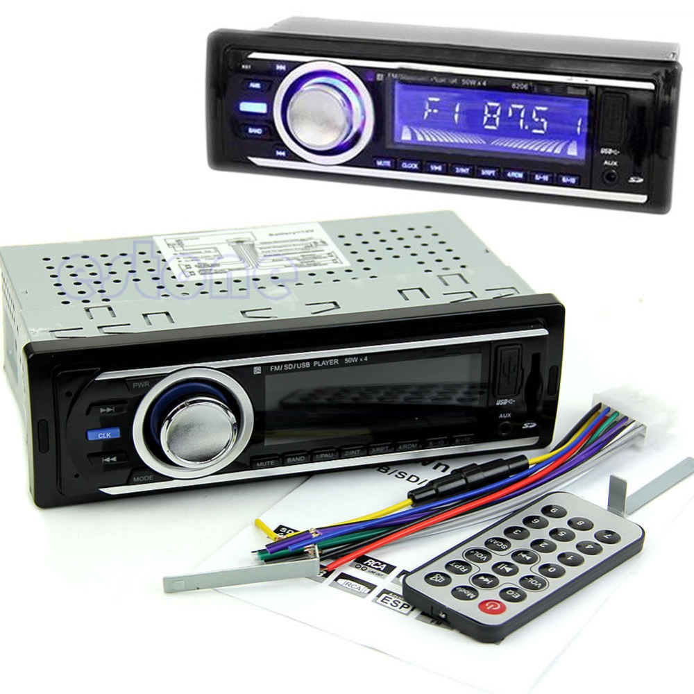 Car Audio Stereo MP3 Player WMA USB SD Card AUX-IN Radio FM With Remote Control