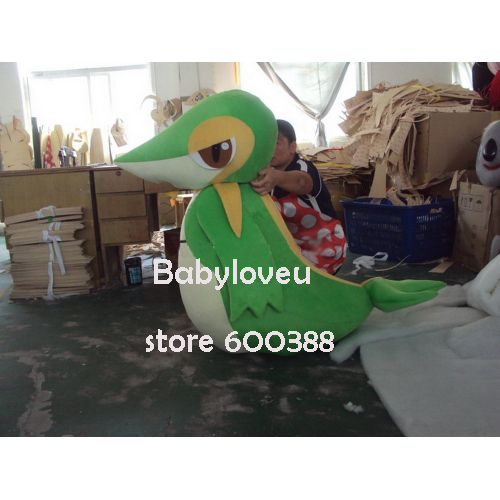 High quality Adult size Cartoon Mascot Costume Snivy Pokemon cosplay halloween costume christmas Crazy SaleОдежда и ак�е��уары<br><br><br>Aliexpress