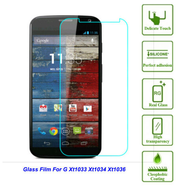 """For Motorola Moto G XT1033 XT1034 XT1036 0.26mm ultra thin Screen Protector on mobile phone Tempered Protective Glass Film 4.5""""(China (Mainland))"""