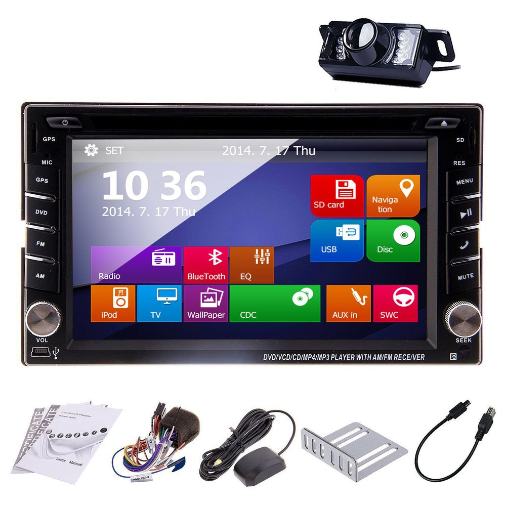 Windows 8.0 6.2-inch Double DIN Gps Navigation for Universal 2 Din In Dash Car Video Audio Radio Auto Stereo+Free GPS Map+Camera(China (Mainland))