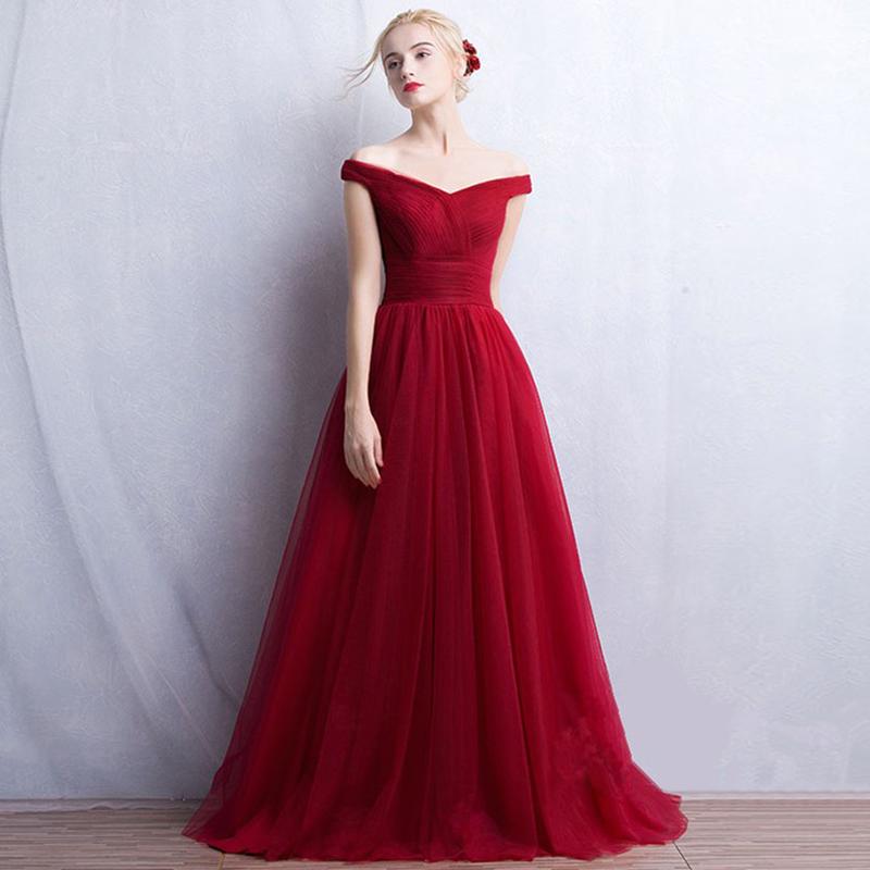 Aliexpress.com  Buy vestidos largos A line Off Shoulder Sleeveless Long Elegant Evening Dress With Tie Up vestido de festa Burgundy Prom Dresses from