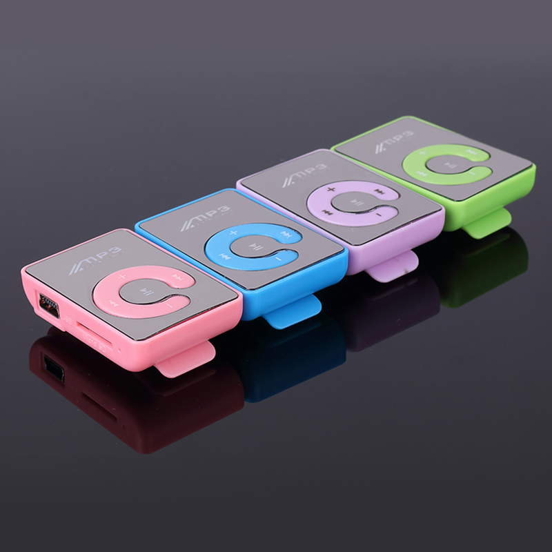 Hot Sell Gift High Quality Color Mini mirror Clip MP3 Music Player Support 1-8GB Micro SD TF Mp3 Player Card free shipping(China (Mainland))