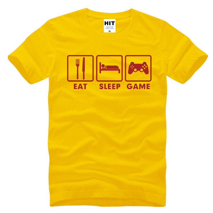 Eat Sleep Game XBOX Custom Gamer Funny Printed Mens Men T Shirt T-shirt 2017 New Short Sleeve O Neck Casual Tshirt Tee