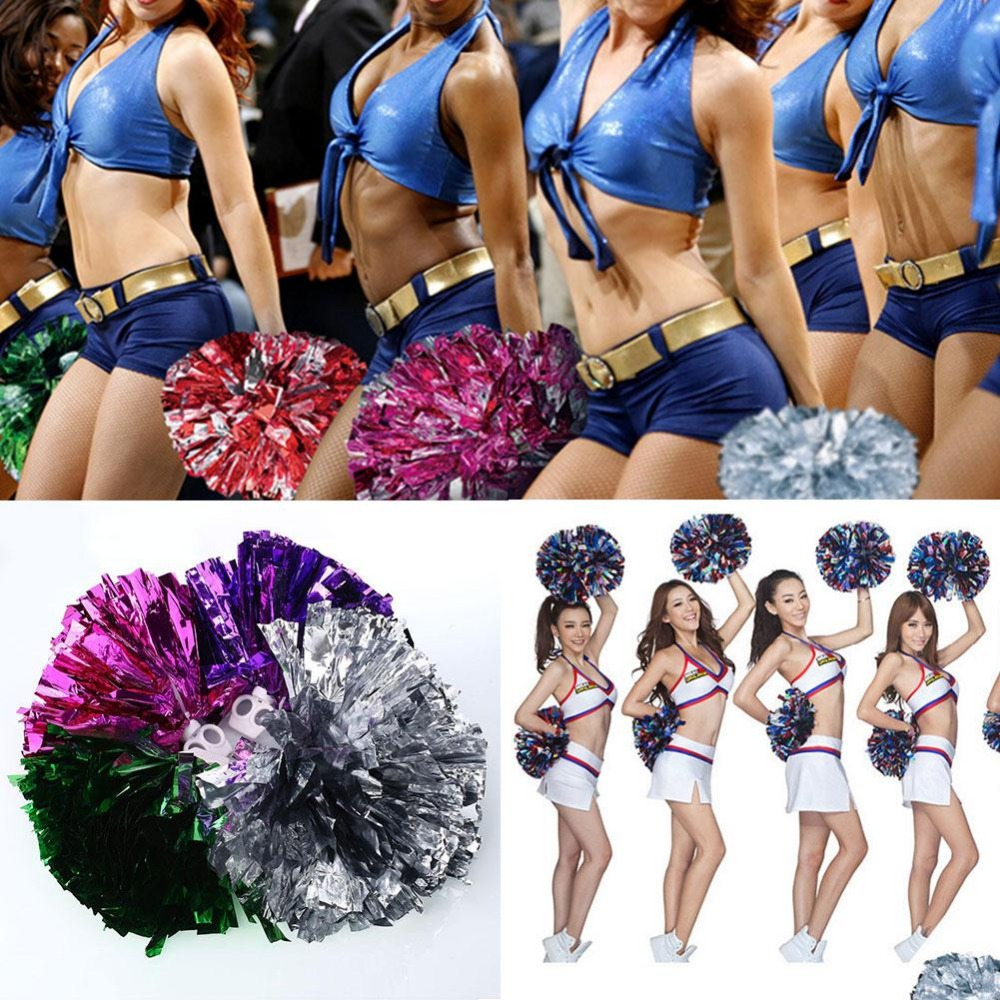 2 Pcs Cheering Poms Basketball Cheer Leading Pompoms Sports Match Vocal Concert Competition Cheering Pom Poms(China (Mainland))