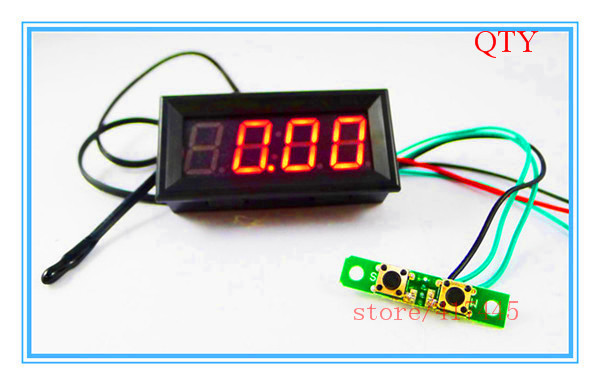 """12V 24V 0.56"""" Car Auto Digital Red Led Electronic Time Clock + Thermometer + Voltmeter(China (Mainland))"""