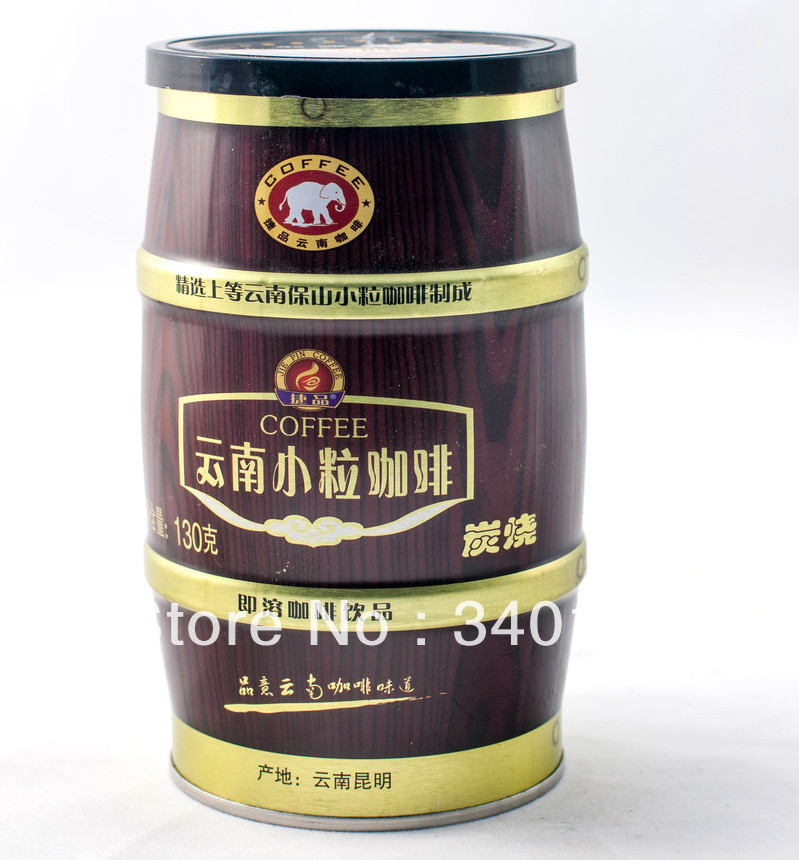 Small grain coffee canned instant coffee three in roasted coffee 130g