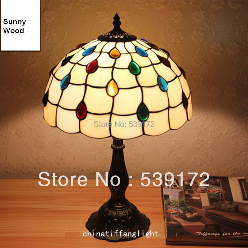 Free Shipping 12 Inch Shell lamps,tiffany tables lamp,Free 5W E27 LED Bulb for promotion, Lamps for home 90-260VAC TEN-T-020(China (Mainland))