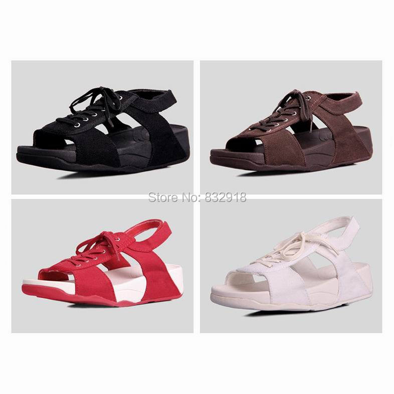 fashion brand women sandals wedges summer casual canvas gladiator shoes back strap Black,Red,White,Brown - Tianchi Fashion Store store