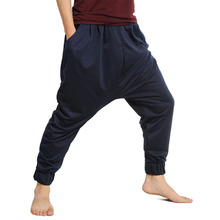 New 2014 Fashion Men's Harem Pants Fashionable Casual Man  Loose Mid-Low Waisted Male Trousers Men Pant 3 Colors Free Shipping