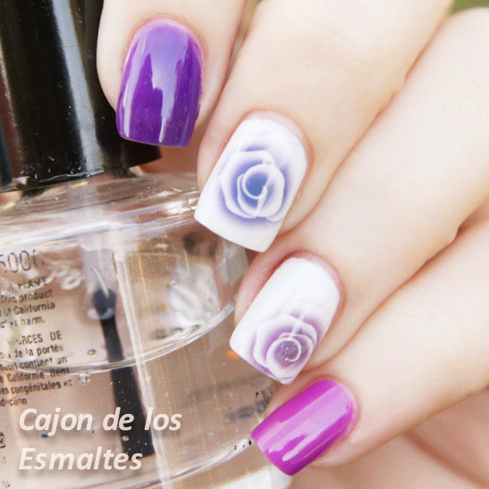 Nail Water Decals Sticker Transfer Sticker Charming Fantastic Rose Pattern Y037 <br><br>Aliexpress