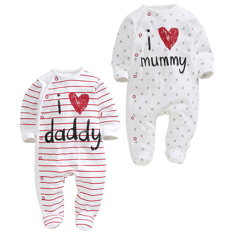 baby long sleeve rompers love mama papa boys girls babies clothes newbron cotton clothing one pieces body suit 2015 spring(China (Mainland))