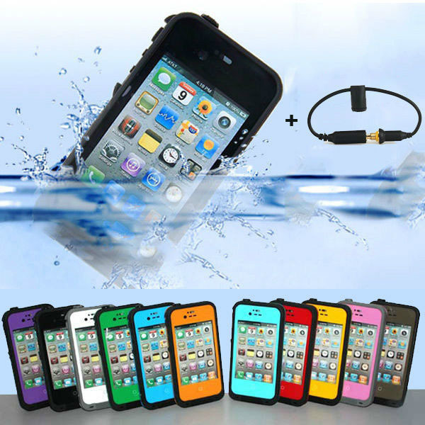 Waterproof Case Cover for iPhone 4 4S Dirtproof Shockproof Snowproof Cases For Apple iPhone4S iPhone4 Muti Colors High Quality