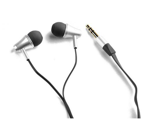 2pcs/lot Great Sound Awei ES300m Headset Earphones Speakers Metal Flat cable earphone for IPhone/IPOD/Android/htc/Samsung(China (Mainland))