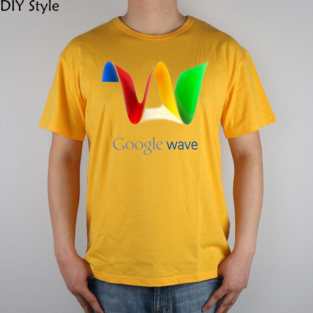 GOOGLE WAVE INTERNET SEARCH ENGINE hilariousT-shirt Top Lycra Cotton Men T shirt New Design High Quality Digital Inkjet Printing(China (Mainland))