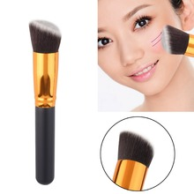 Cosmetic Angled Flat Top Brush Face Makeup Blusher Powder Foundation Tool Wholesale