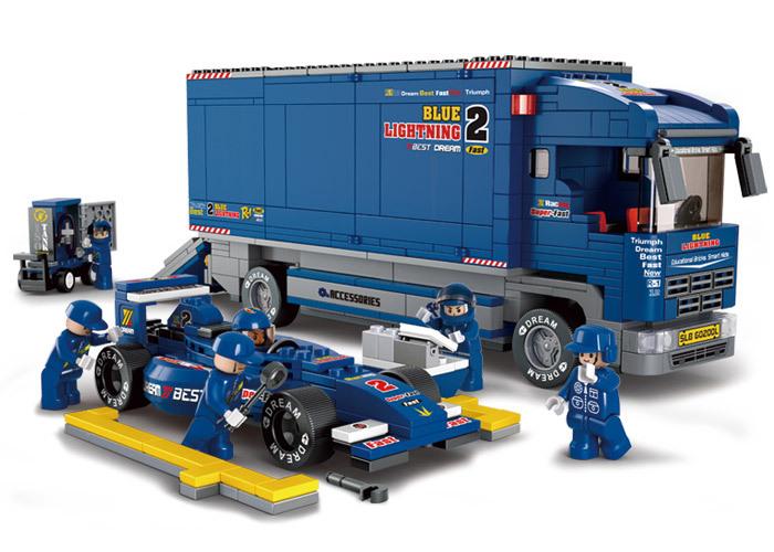 69F1 Racing Truck Formula Car Sluban B0357 Building Block Educational DIY Jigsaw Construction Bricks Children Toys