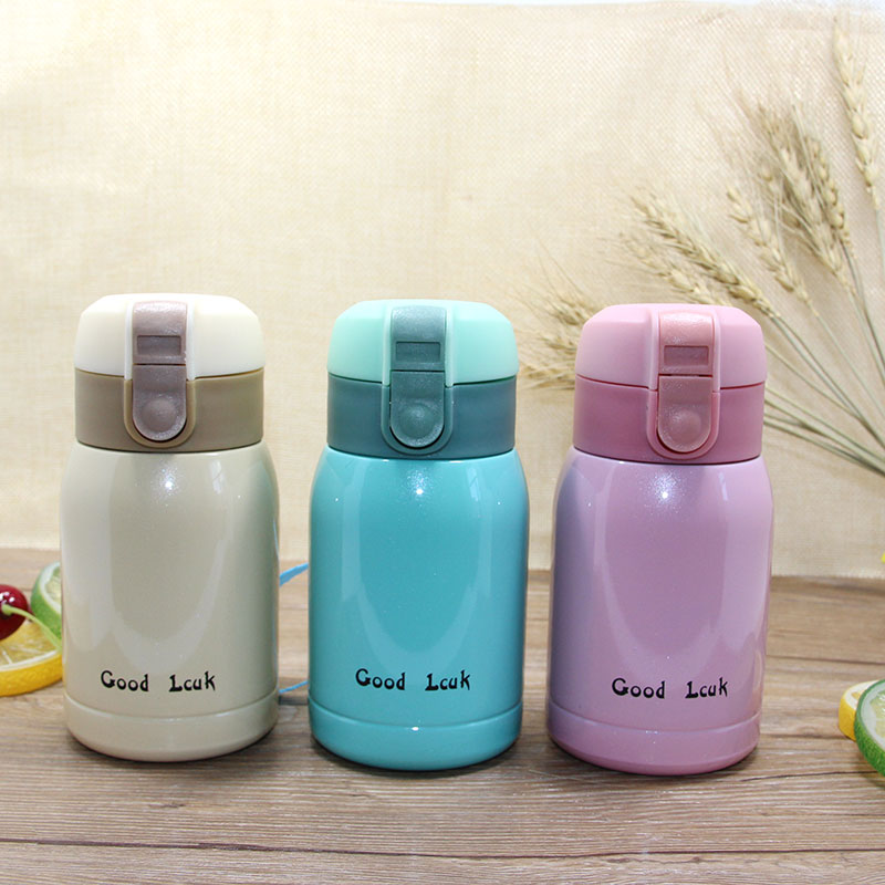New Korea Popular Stainless steel vacuum cup belly cup portable thermos cup Water Bottle Office Vacuum 180ml/360ml Top Quality(China (Mainland))