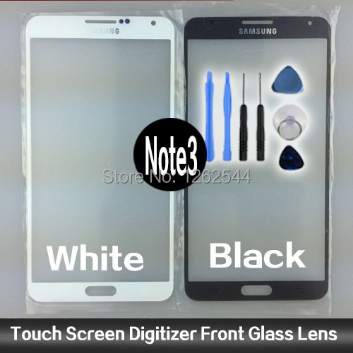 Black white Front Screen Glass Lens Samsung Galaxy Note 3 Replacement Free 3M Adhesive Sticker & Tool Kit - Biotech Source Trading(HK storeCo.,Ltd)