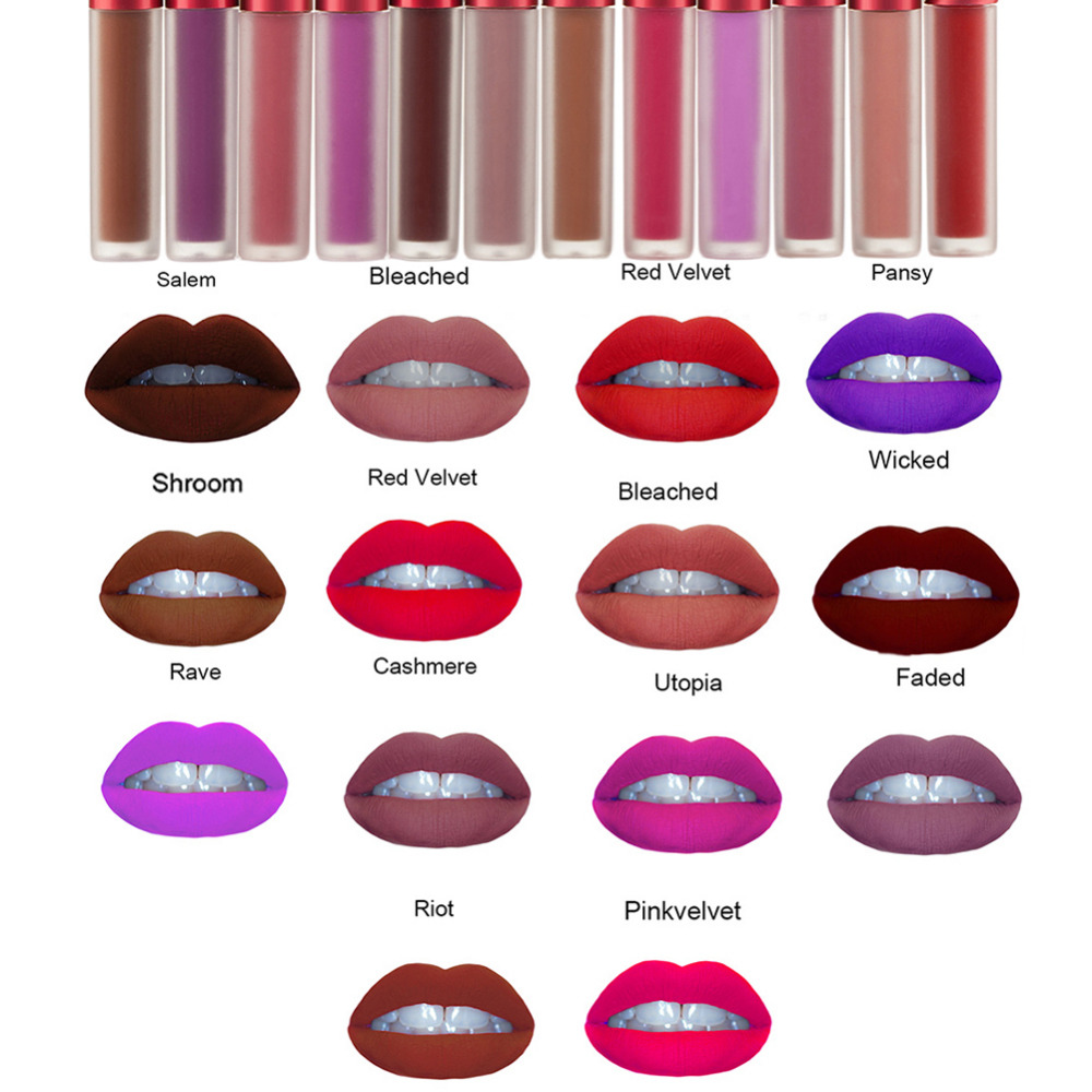 2016 New Lip Gloss Matte Liquid Lipstick Long-lasting Makeup Lipgloss Maquillage Sexy Waterproof Lipstick Lip Stain Cosmetic