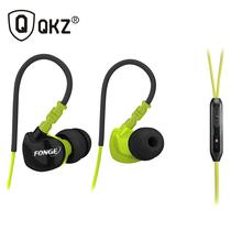 QKZ F1 Sports Earphones Running Waterproof Sweatproof IPX5 with mic in-ear earhook Music Headset Mobile Stereo Bass Sports-Fi