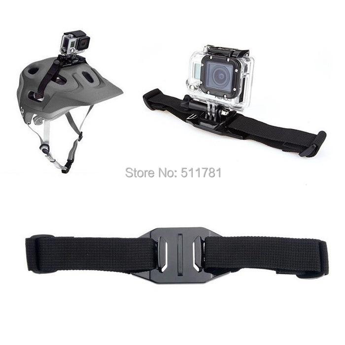 Easttowest Gopro Accessories Adjustable Helmet Mount Safety Helmet Strap For Gopro Hero 4 3 3+ Xiaomi Yi Action Camera SJ4000