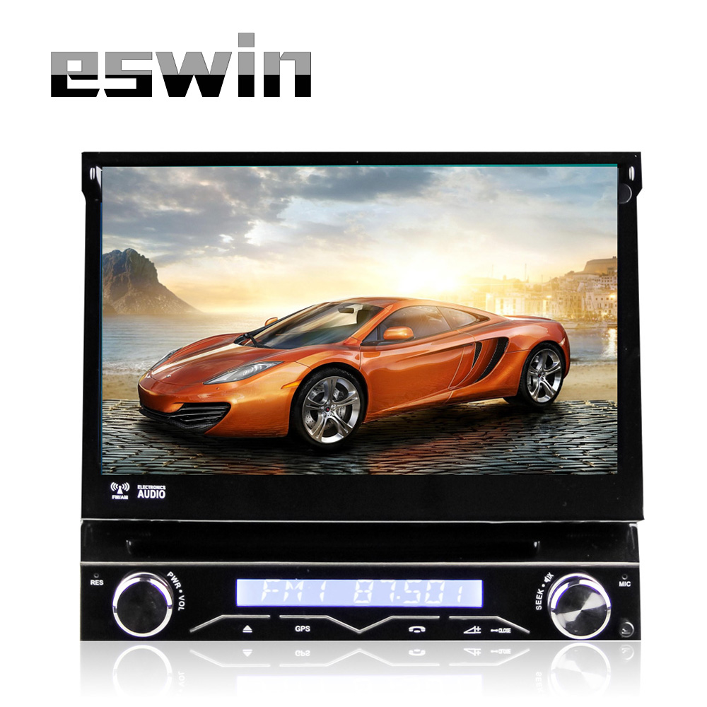 1 Din Touch Screen Car Stereo 7 inch GPS Navigation DVD Player With Android 4.4.4 System Quad Core Wifi USB Bluetooth Aux-in(China (Mainland))