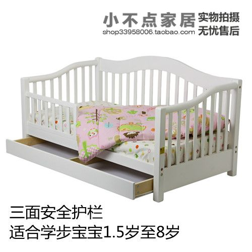 Kindergarten children's furniture wood wholesale trade children's beds single bed with a small fence large drawer(China (Mainland))