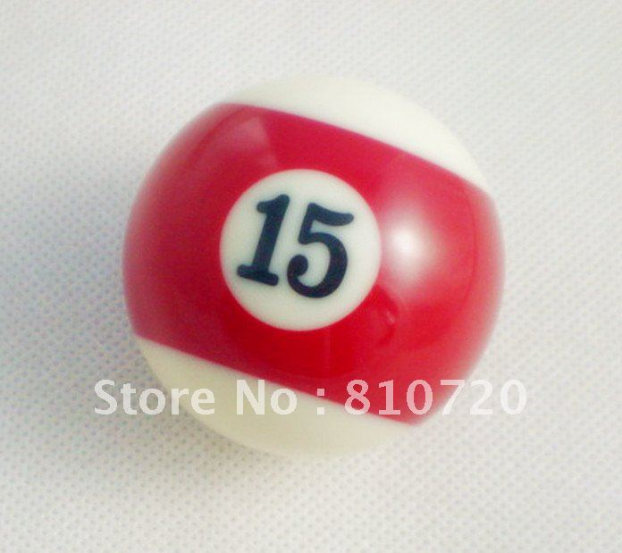 "Free shipping 1pcs NO.15 Pool snooker Billiard table Cue NO.15 ball 2-1/4"" 57.2MM(China (Mainland))"