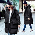 Korean Style 2016 Winter Down Jacket Women s Cotton Lapel Hooded Thickening Coat