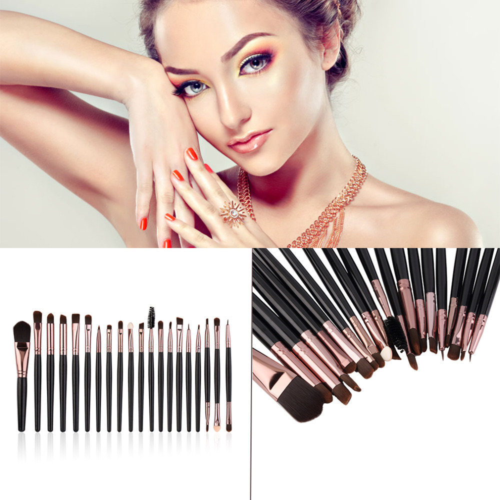 New Arrival 20 Pcs Eyebrow Lip Eyeshadow Fashion Complete Makeup Brush Set Kits New Quality Hot