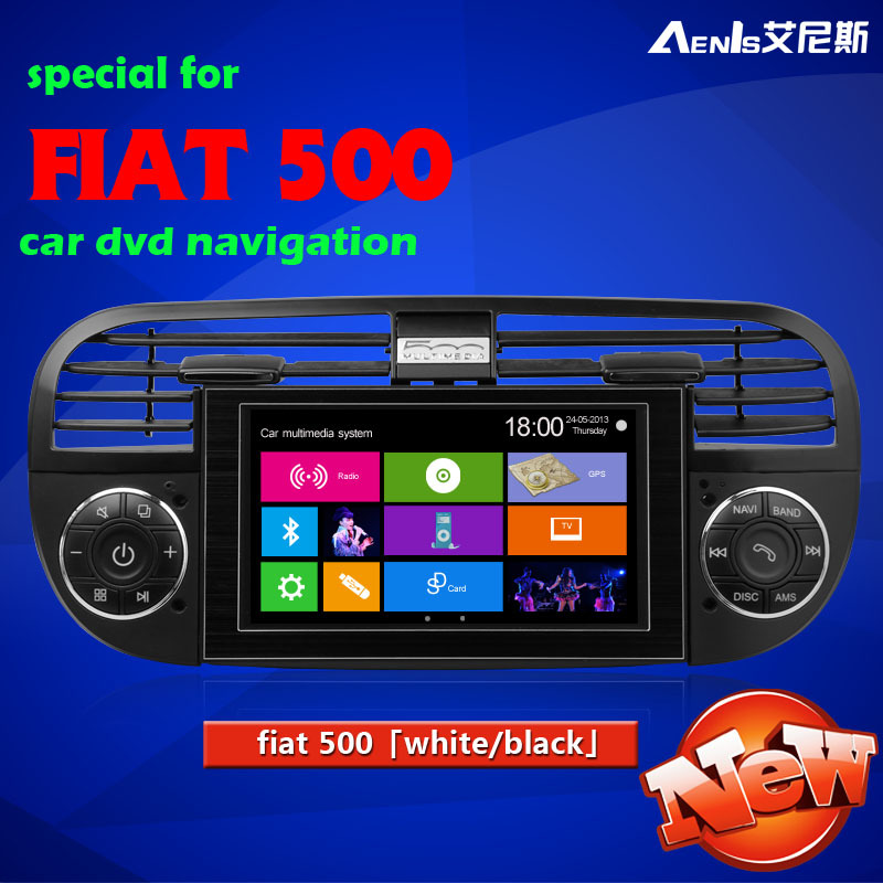 Fiat 500 dvd navigation manufacturer supplier Car DVD GPS flat 500 car dvd navigation(China (Mainland))