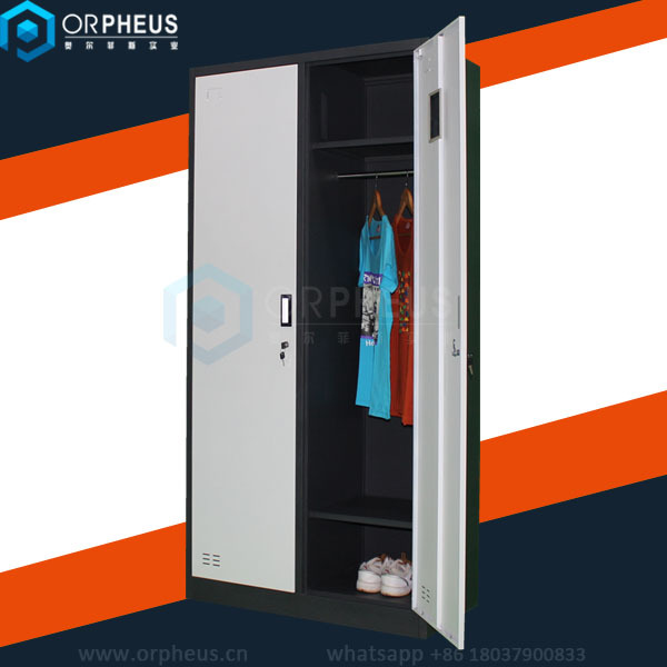 Popular modern changing room storage cabinet metal or iron for Iron closet storage