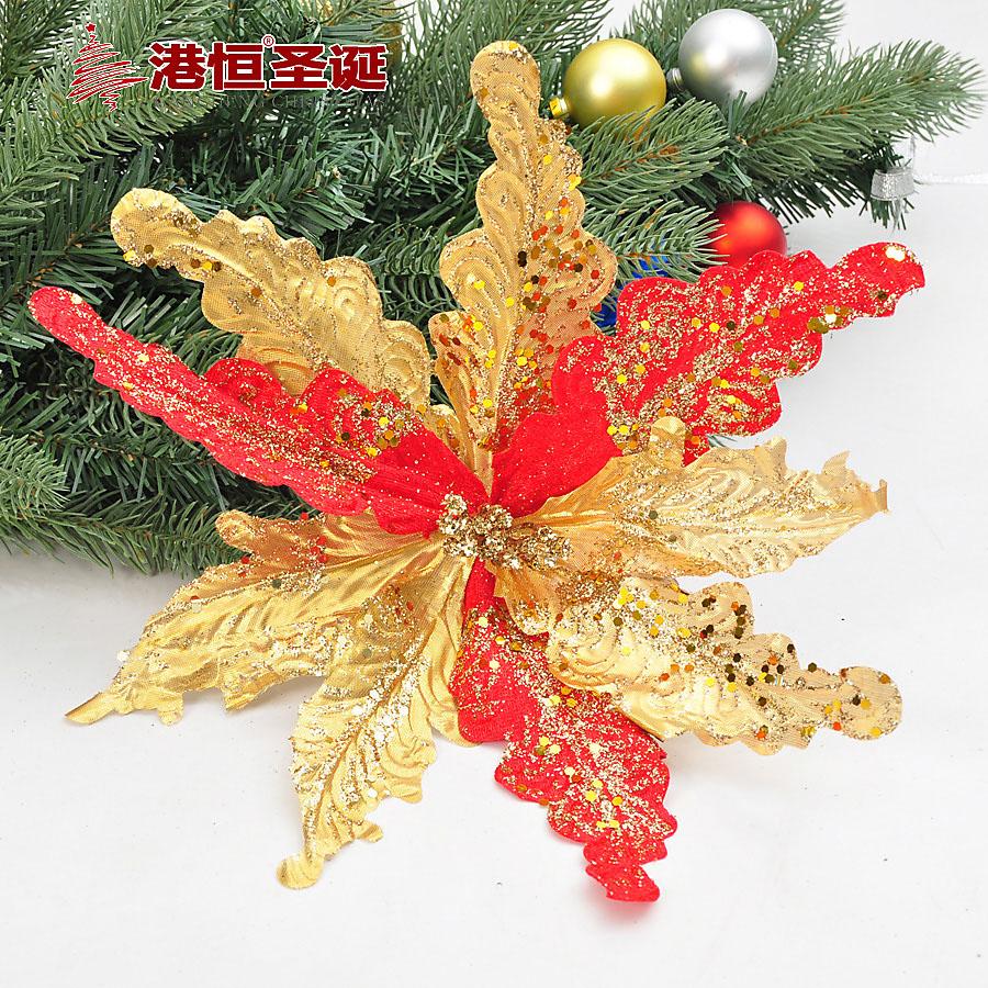 30cm Artificial Flower Wedding Party Decor Christmas Flowers Xmas Tree Decorations XmasF040(China (Mainland))