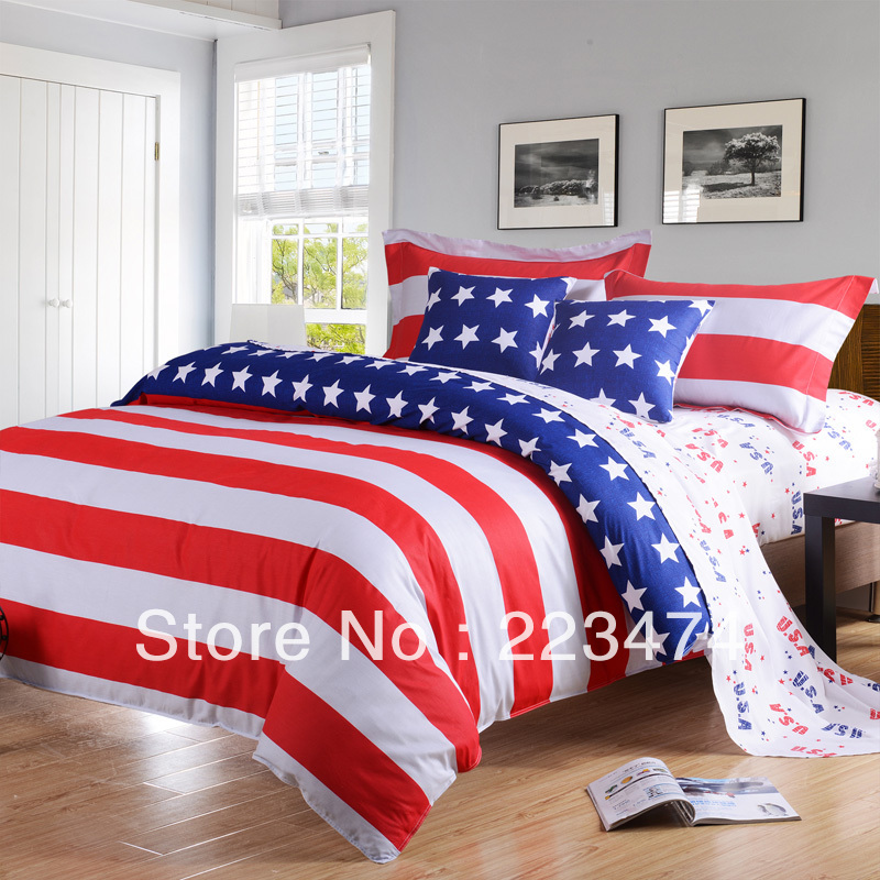 free freeshipping american flag bedding sets queen size