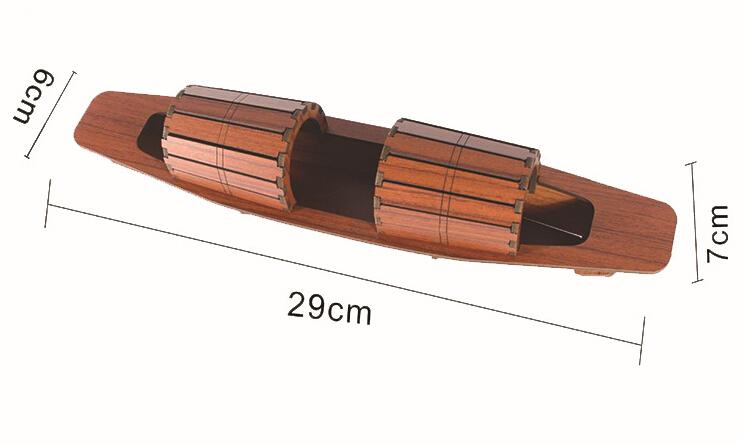 Dragon boat festival Explosion models Dragon Boat Wooden Crafts Wooden Decoration Redwood 29*7cm(China (Mainland))